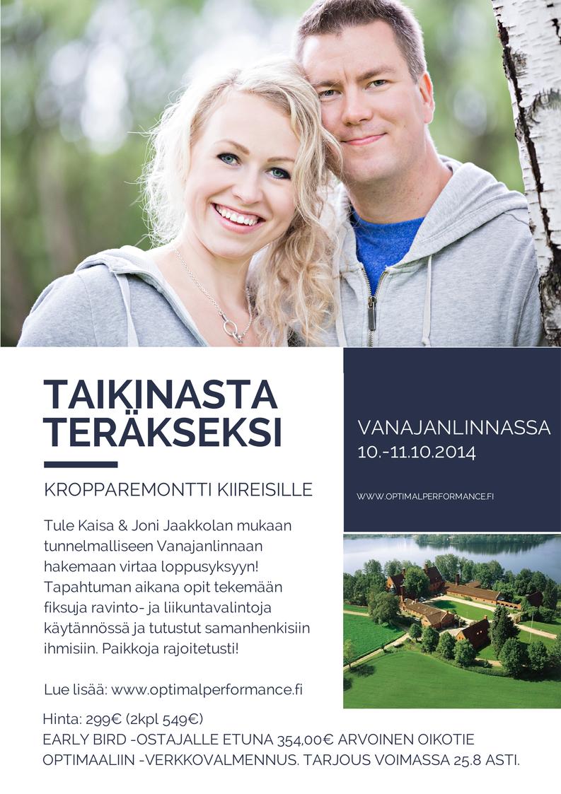 Taikinasta teräkseksi -tapahtuma Vanajanlinnassa 10.-11.10.2014