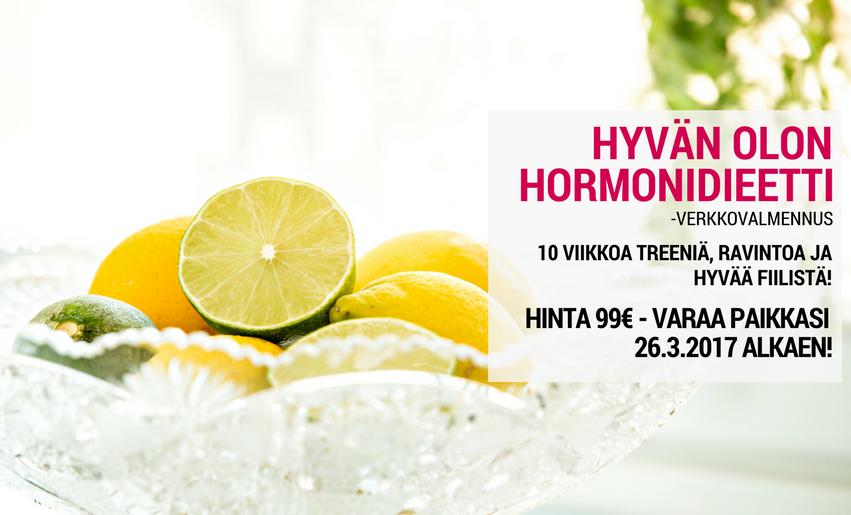 Hyvän olon hormonidieetti -verkkovalmennus alkaa jälleen 10.4.2017!