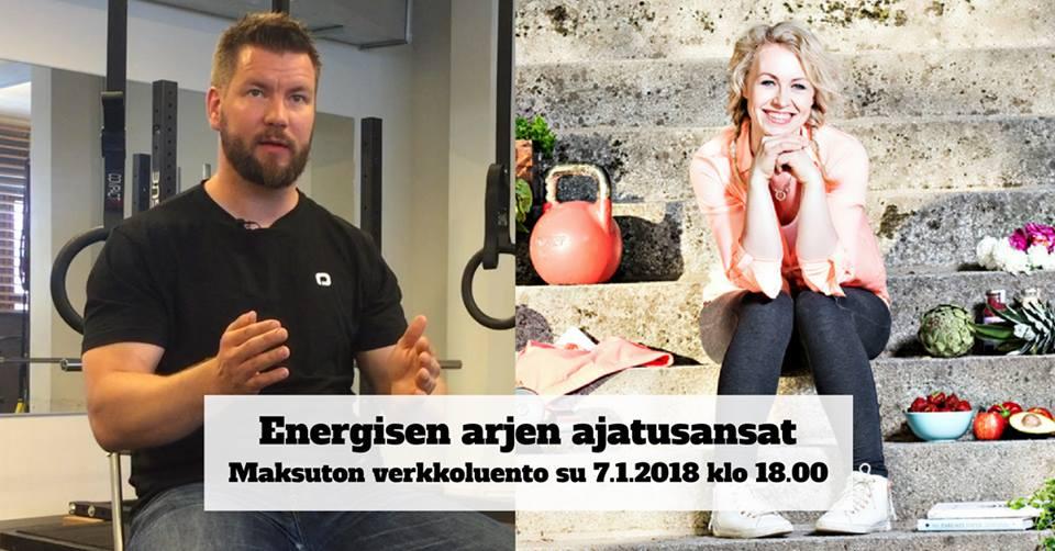 Energisen arjen ajatusansat -webinaari tulossa sunnuntaina 7.1.2018