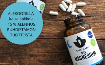 Paljonko magnesiumia olisi hyvä syödä?